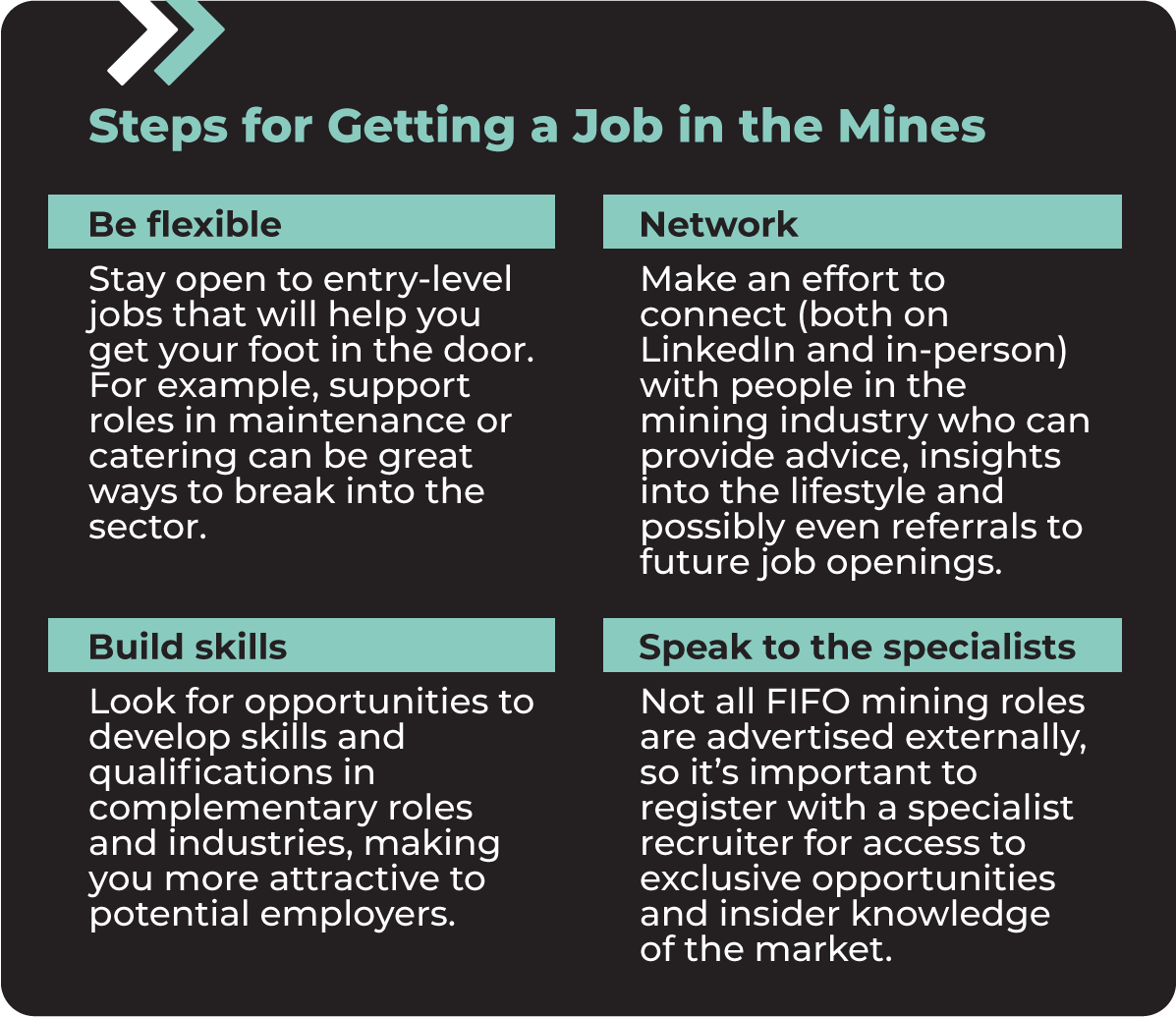 Steps for Getting a Job in the Mines
