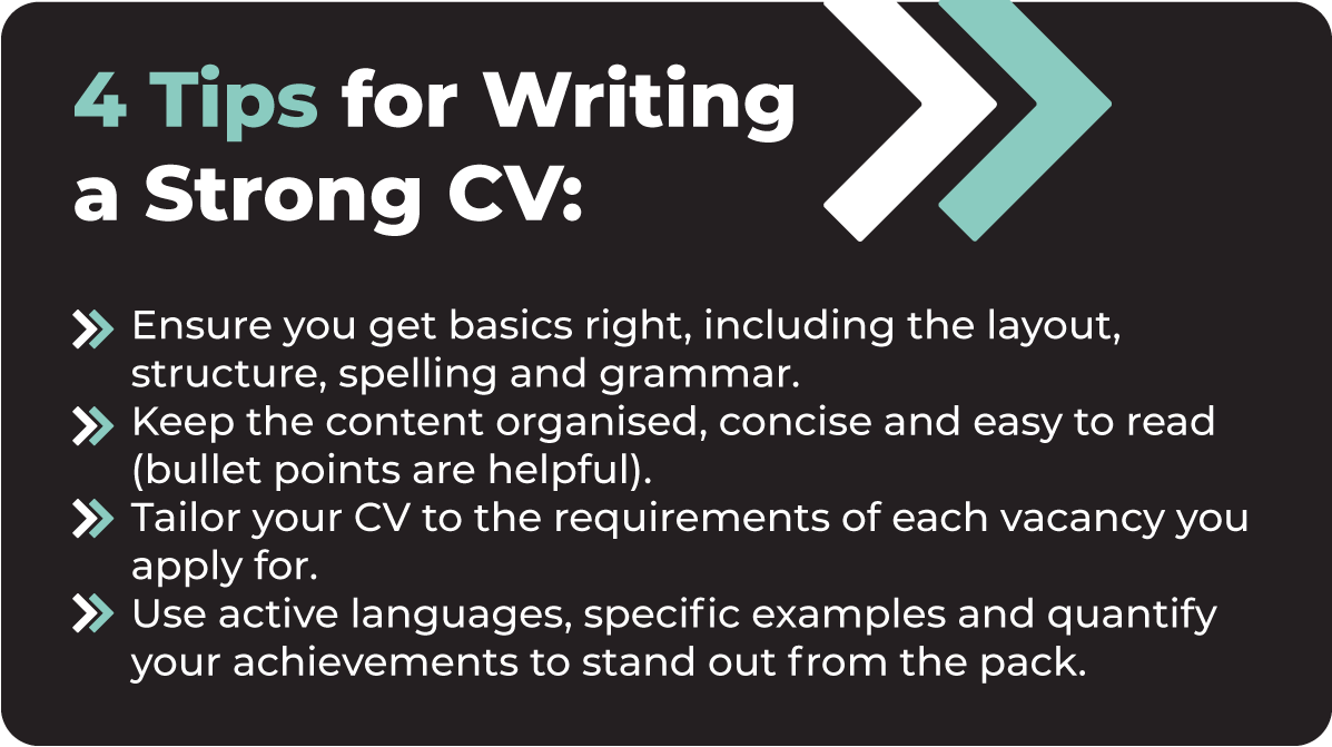 4 Tips for Writing a Strong CV